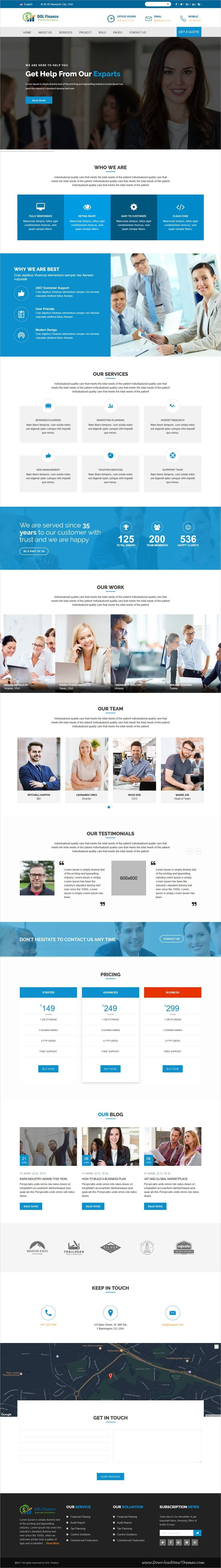 DOI is clean and modern design 2in1 responsive bootstrap #HTML template for #business and #finance agencies website to live preview & download click on Visit