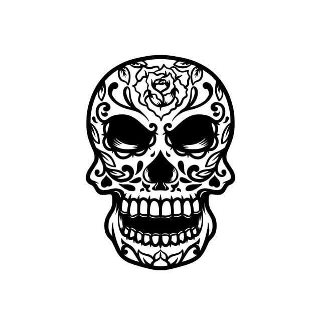 Sugar Skull Skull Clipart Dead Holiday Png And Vector With Transparent Background For Free Download Skull Illustration Sugar Skull Skull Painting