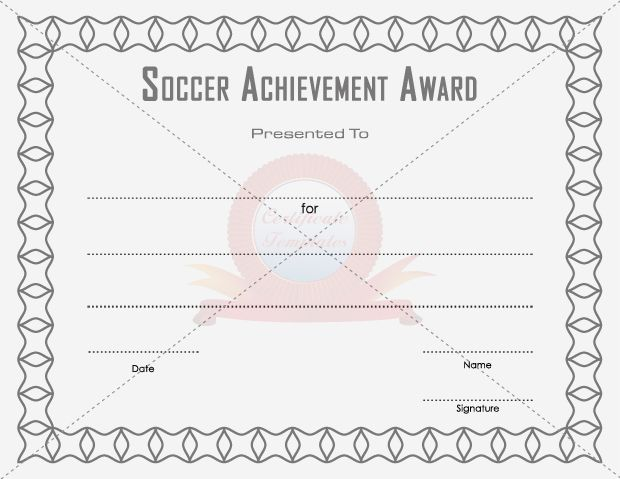 11 best SOCCER ACHIEVEMENT AWARD TEMPLATES images on Pinterest