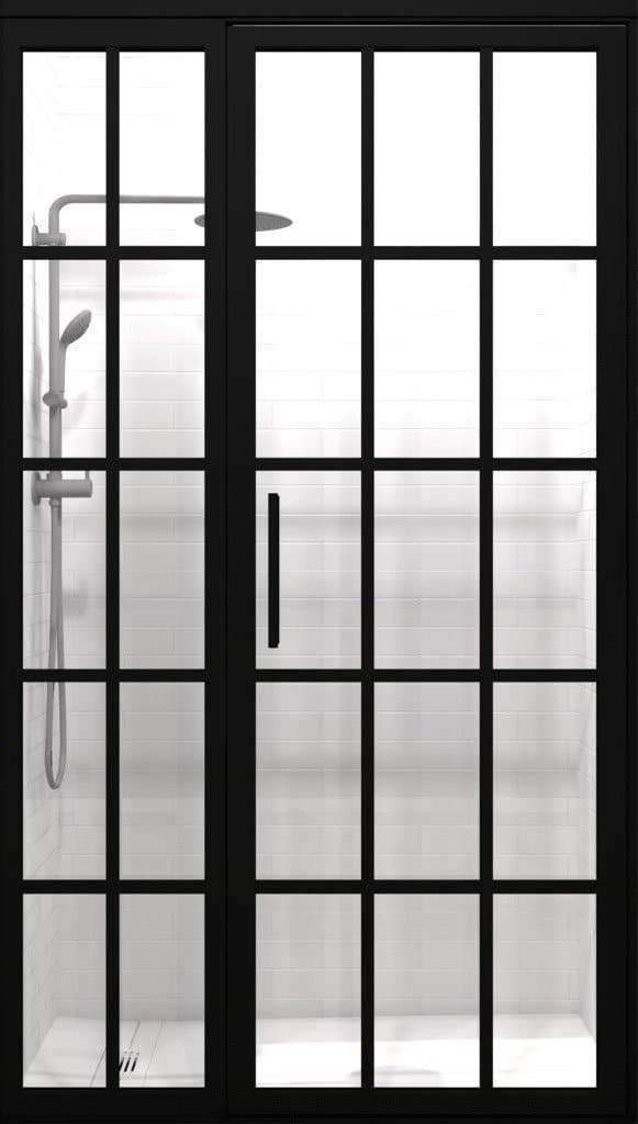 10mm Black Frame Frosted Glass Shower Screen 1200mm Soak Com Glass Shower Glass Shower Panels Glass Shower Wall