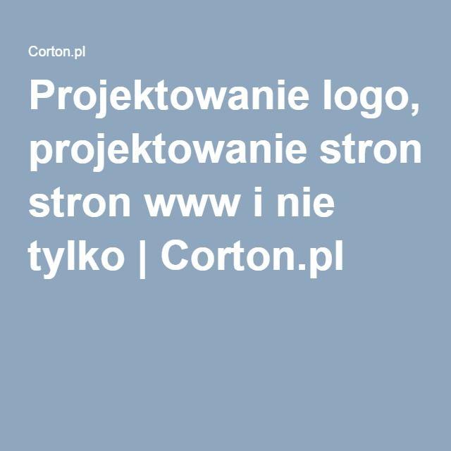 Projektowanie logo, projektowanie stron www i nie tylko | Corton.pl