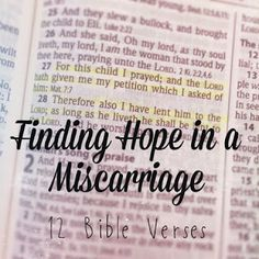 Recklessly Chosen: Hope in a Miscarriage - 12 Bible Verses