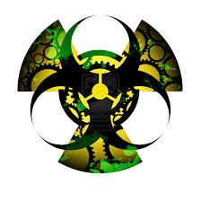 Biohazard and radioactive tattoo in one...