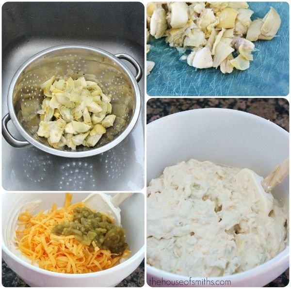 Creamy Artichoke Dip - from House of Smith's. This really looks yummy ...