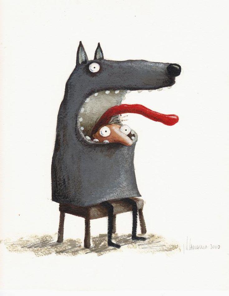 Pinzellades al món: Caputxeta Roja il·lustrada / Caperucita Roja ilustrada / Little Red Riding Hood illustrated / Le Petit Chaperon Roug illustré (17)