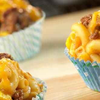 Can't decide whether to make tacos or macaroni and cheese for supper? You can have both when you serve these super-delicious individual cups filled with family-favourite ingredients, such as ground beef, salsa, elbow macaroni and Cheddar cheese.