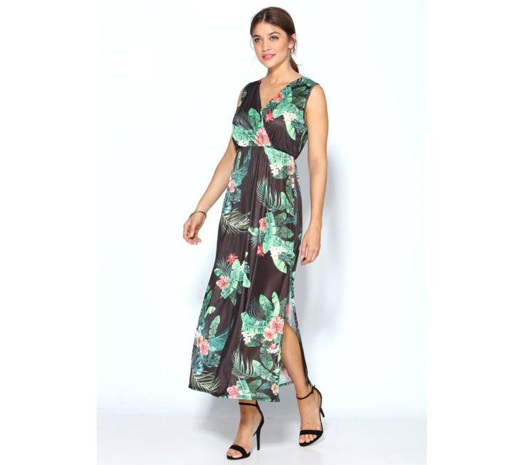 Dlhé šaty bez rukávov, s kvetinovou potlačou | modino.sk #ModinoSK #modino_sk #modino_style #style #fashion #summer #dress