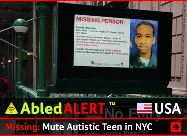 Ongoing coverage of the search for 14 year- old  Avonte Oquendo, a non-verbal autistic boy whose mother dearly wants him home for Christmas: http://abled.com/2013/10/abledalert-missing-mute-autistic-boy/