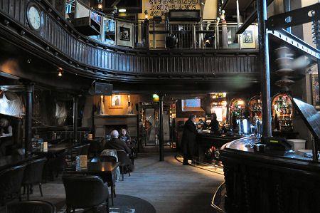 Frankenstein Bar in Edinburgh, an old converted church to a Gothic laboratory.