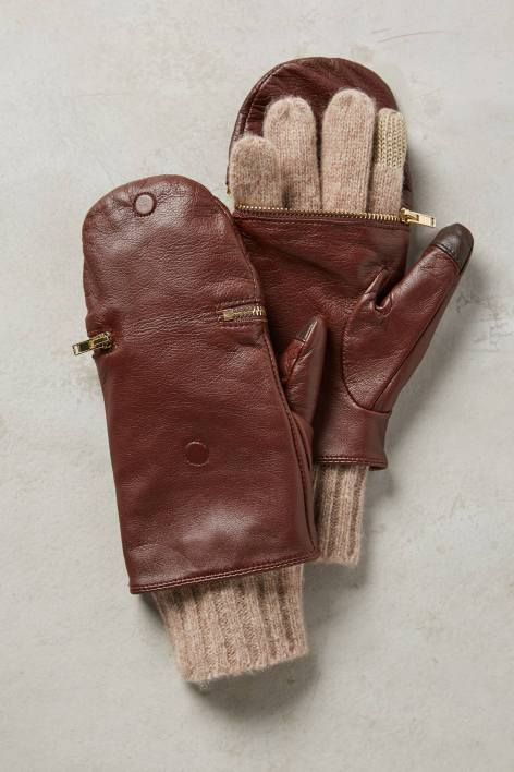 Pop-Top Leather Gloves | Pinned by topista.com