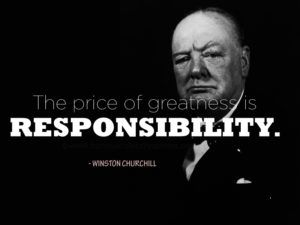 Winston Churchill Quotes about Responsibility
