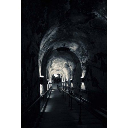 Pommery champagne winery passageway to ancient Gallo-Roman quarries Reims Marne Champagne-Ardenne France Canvas Art - Panoramic Images (24 x 36)