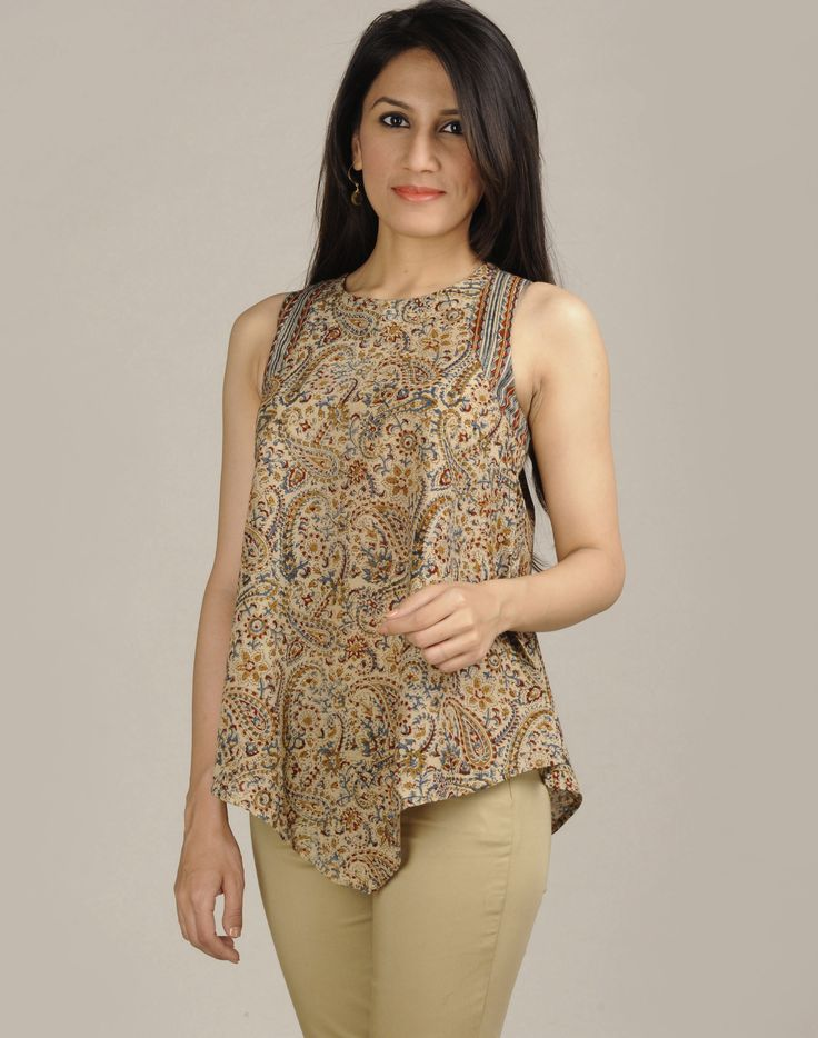 Fabindia.com | Cotton Kalamkari Boat Neck Top