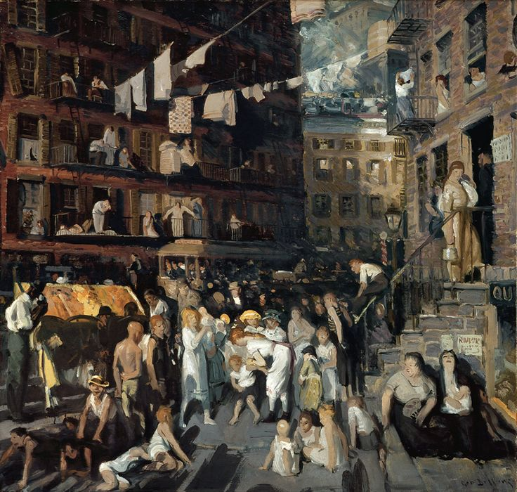 """George Bellows """"Cliff Dwellers"""" 1913 (Los Angeles County Museum of Art)  I saw this at the Royal Academy of Art, London"""