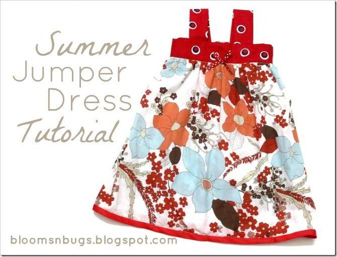 Summer Jumper Dress TutorialDresses Pattern, Little Girls, Summer Dresses, Dresses Tutorials, Free Pattern, Summertime Jumpers, Jumpers Dresses, Baby Dresses, Sewing Tutorials