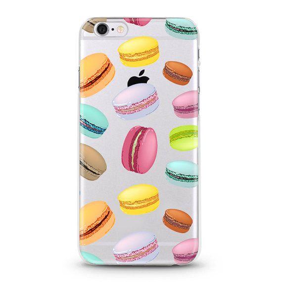 Macaron iPhone 7 Case, iPhone 6 case, iphone 6s case, iPhone 6s plus transparent clear case
