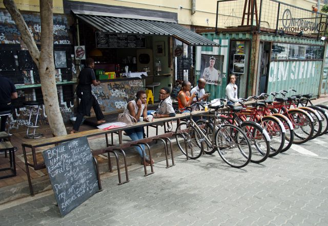 Uncle Merv's in the Maboneng Precinct, Johannesburg. Here are nine more awesome places to discover in this precinct: https://afktravel.com/59952/10-cool-things-to-do-in-maboneng/6/
