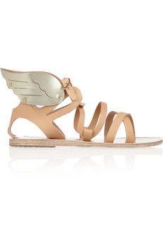 Ancient Greek Sandals Sandales ailées en cuir Nephele   NET-A-PORTER