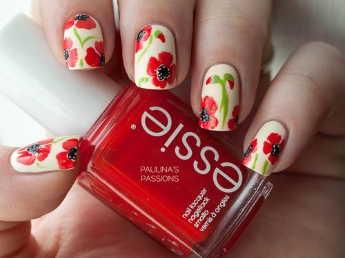 21 Vintage Floral Nail Designs - Fashion Diva Design SUMMER PRIORITY