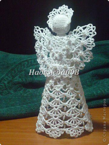 Поделка, изделие Вязание крючком: Ангелочки Пряжа Новый год, Рождество. Фото 22