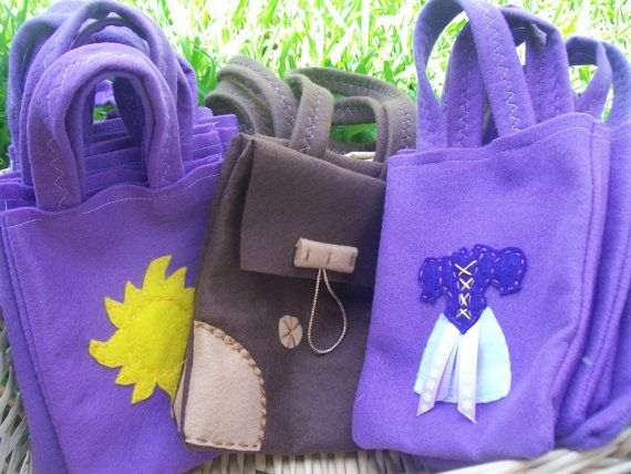 Rapunzel Party bags Set of 18 party bags by BellisimaSofia on Etsy, $63.00