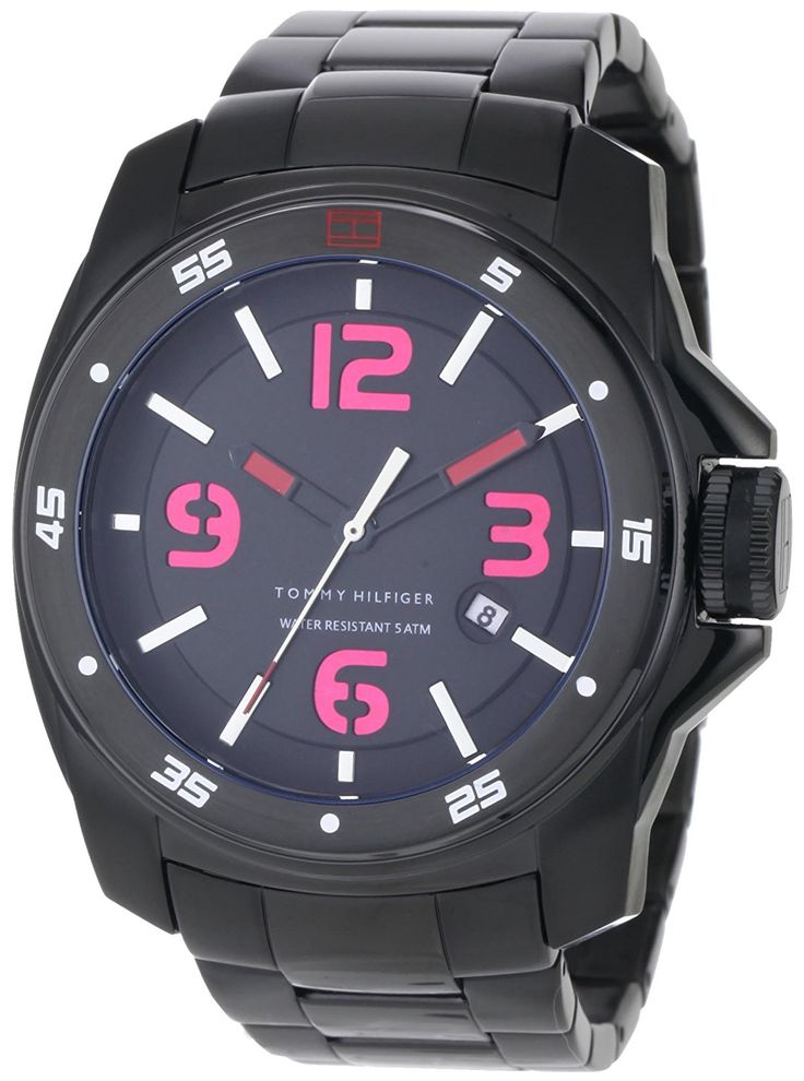 Tommy Hilfiger Men's 1790770 Sport Black Ionized Plated Case and Bracelet Watch -- To view further for this watch, visit the image link.