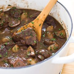 Modern Beef Burgundy Recipe - America's Test Kitchen. I'd add carrots. GREAT RECIPE! Watch and write now; it will disappear in 30 days!