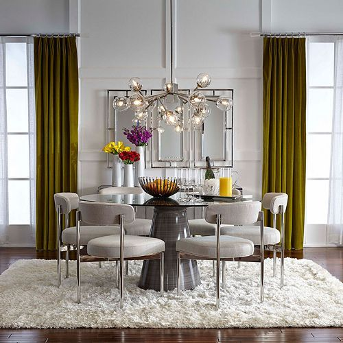 Dining Room Curtains To Create New Atmosphere In Perfect: Addie 60 Round Dining Table In 2019