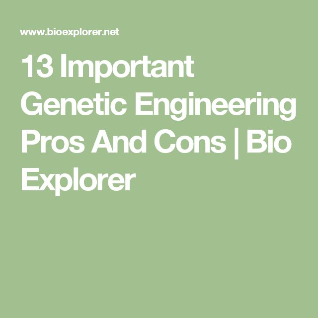 the importance of genetic engineering and problems related to it Tsekos, c and bissa, m (2017) two important issues in environmental ethics: cloning and genetic engineering voice of the publisher, 3, 34-41 doi: 104236/vp201733004.