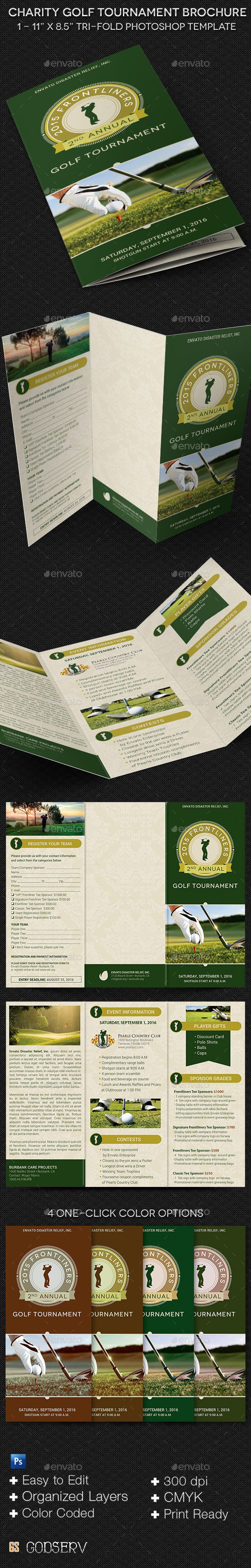 Charity Golf Tournament Brochure Template