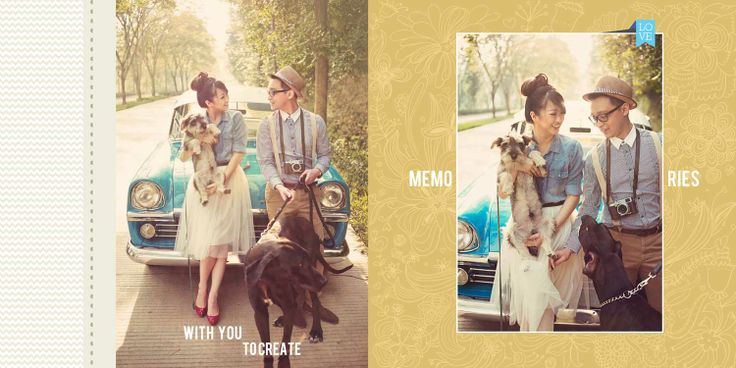 Gerry & Natasha Prewedding Photobook Preview Photo Editing,  Retro vintage theme, photo by HOP, edit & design by Wenny Lee