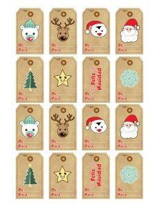 Etiquetas de navidad para imprimir. #paraimprimir #navidad  #etiquetas