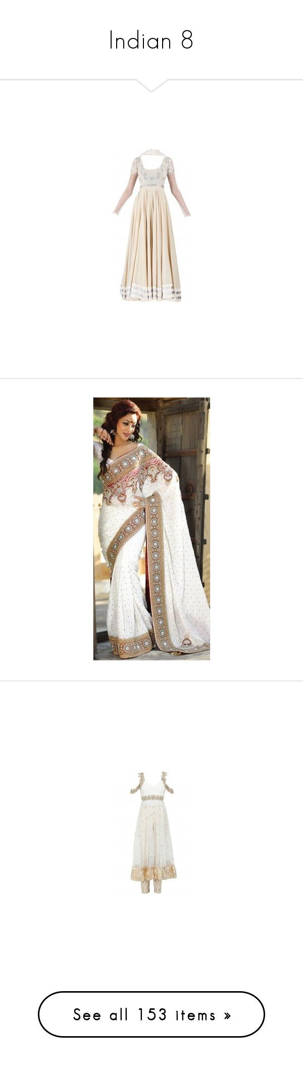"""""""Indian 8"""" by o-hugsandkisses-x ❤ liked on Polyvore featuring saree, dresses, tops, shirts, lingerie, vests, indian, sari, anju and backgrounds"""