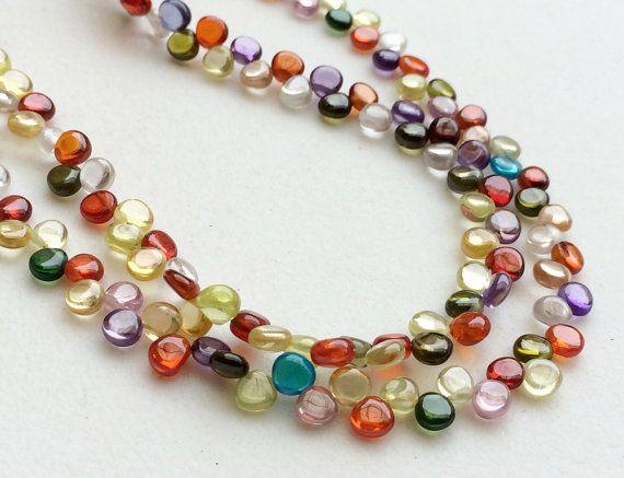 Zirconia Beads Multi Color Zirconia Plain Heart by gemsforjewels