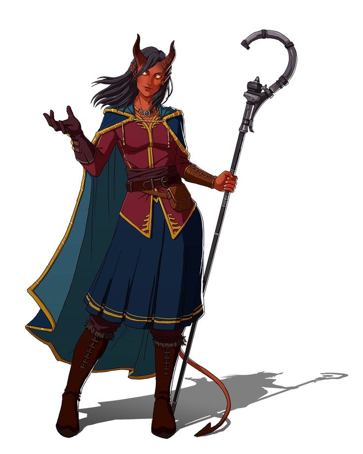 Female Tiefling Wizard - Pathfinder PFRPG DND D&D 3.5 5th ed d20 fantasy