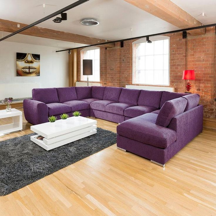 Gala extra large sofa settee corner U/L shape purple 4.0 metre x 2.6 metre L.  Call 02476 642139 or email sales@quatropi.com or visit www.quatropi.com for additional information.
