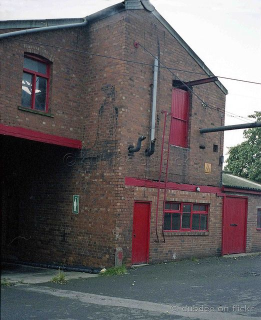 Darley`s Brewery Thorne South Yorkshire. The passageway to the left of this shot led to the Spirit Vaults where along with storing branded spirits for distribution, Darley`s own famous Jamaican Navy Rum was bottled. The raw liquor having been delivered in 72 gallon wooden casks by British Railways lorry it was blended and bottled in the vaults.