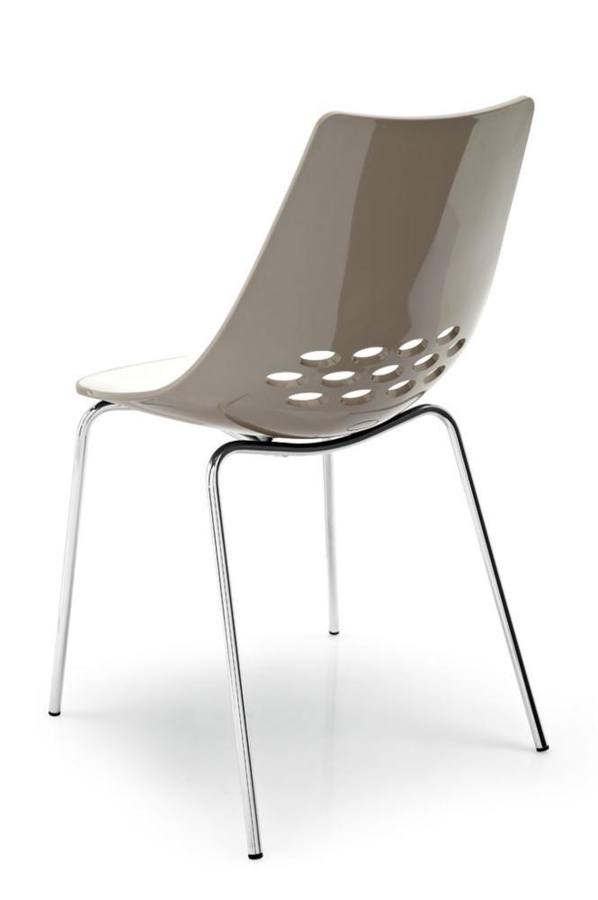Calligaris Jam Chair White/Taupe $140