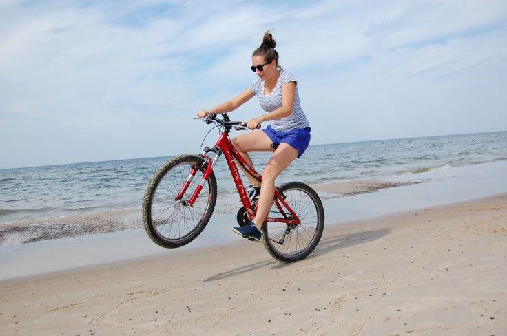 """""""Rower też """"morze"""" :)"""" Fot.: Sandra S. #AktywnaPlaza #PomorzeZachodnie"""