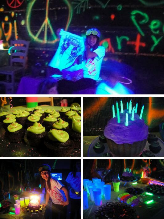 Lights Dark Parties 17Th Birthday Birthday Ideas Glow Parties