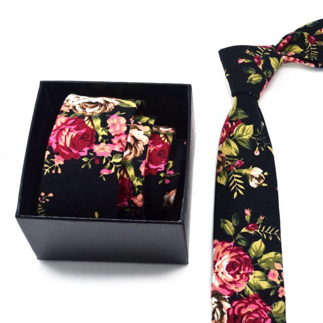 2016 nova verão Casual algodão linho gravata sentimentos amorosos tropicais 5 cm magro Skinny Narrow Floral Vintage homens da festa de casamento
