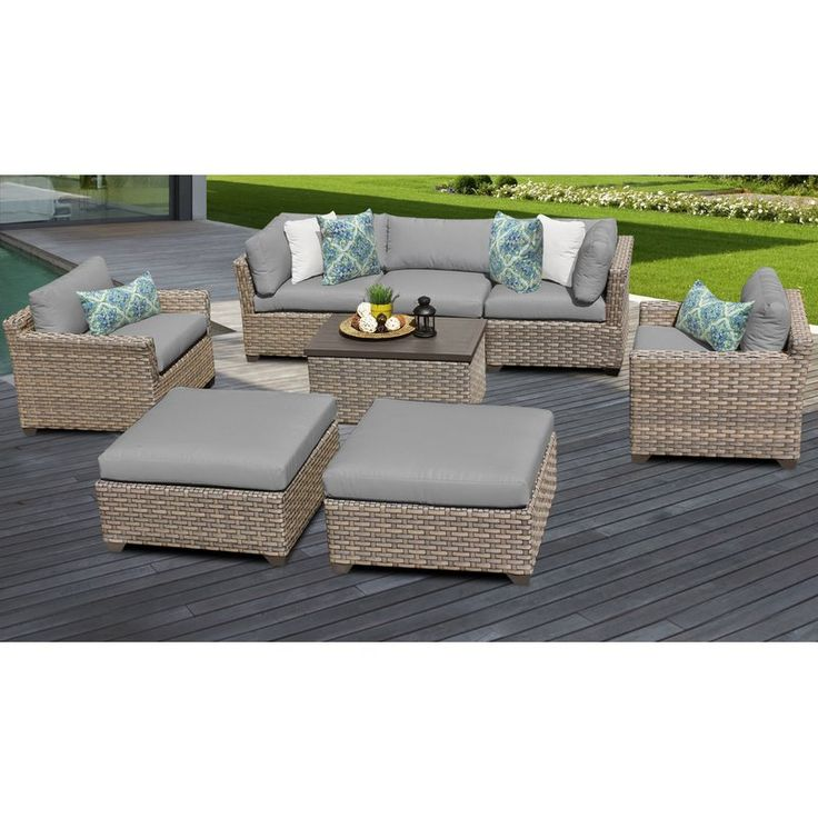 Best Rochford 8 Piece Rattan Sectional Seating Group With 400 x 300