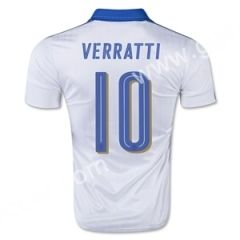 2016 European Cup Italy VERRATTI Away White Thailand Soccer Jersey