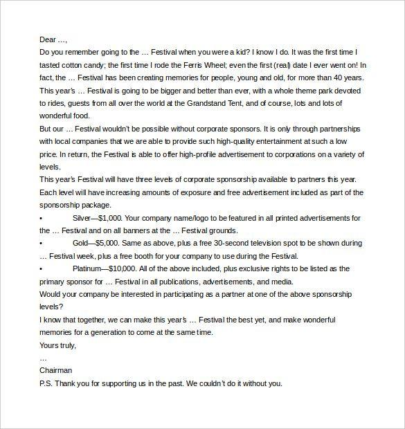 Más de 25 ideas increíbles sobre Sponsorship letter en Pinterest - corporate sponsorship letter