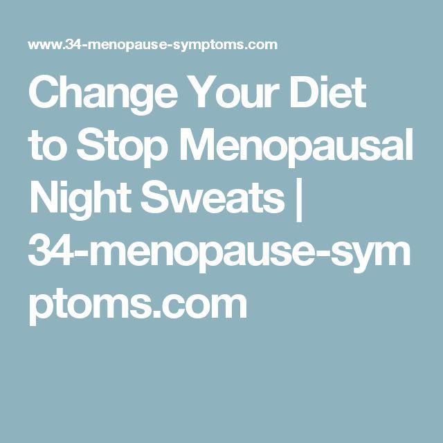 Change Your Diet to Stop Menopausal Night Sweats | 34-menopause-symptoms.com