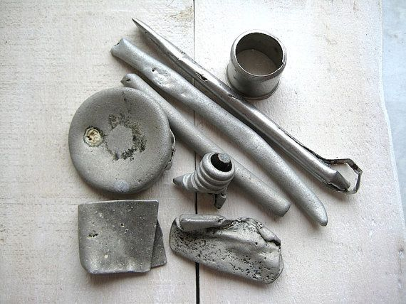 Beach Finds // Metal Objects // Craft Supplies by CreteDriftwood
