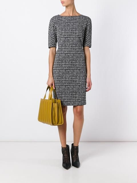 Luisa Cerano plaid fitted dress