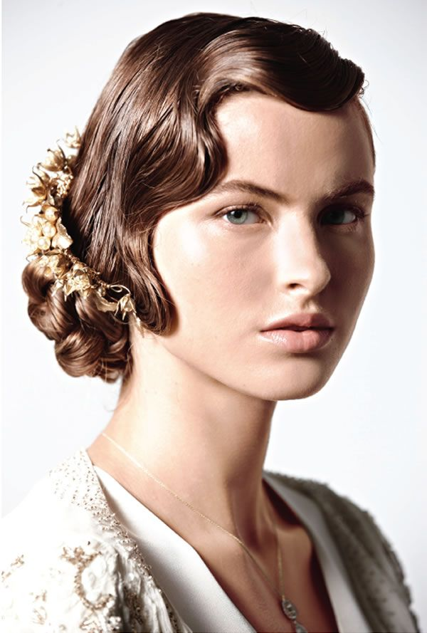 combed hairstyles : Jazz Age inspired cocktail party hairstyle for mid-length hair ...