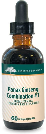 Panax Ginseng Combination #1 by Genestra combines specific herbs selected to support and balance the endocrine, immune and nervous systems. Chronic fatigue syndrome may be due to environmental toxicity, inability to cope with stress, nutritional deficiency, abnormal microflora and mercury toxicity. Panax Ginseng Combo #1 is indicated for symptoms associated with adrenal dysfunctions, for chronic fatigue, depression, muscle tension, viral and bacterial infections, and heavy metal toxicity.