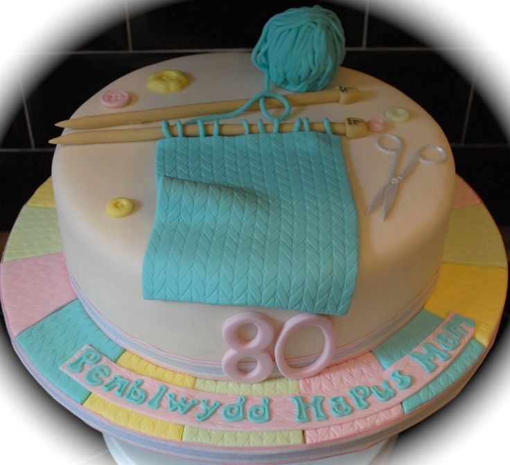 Knitting Birthday Cake Ideas : Best images about knitting cakes on pinterest
